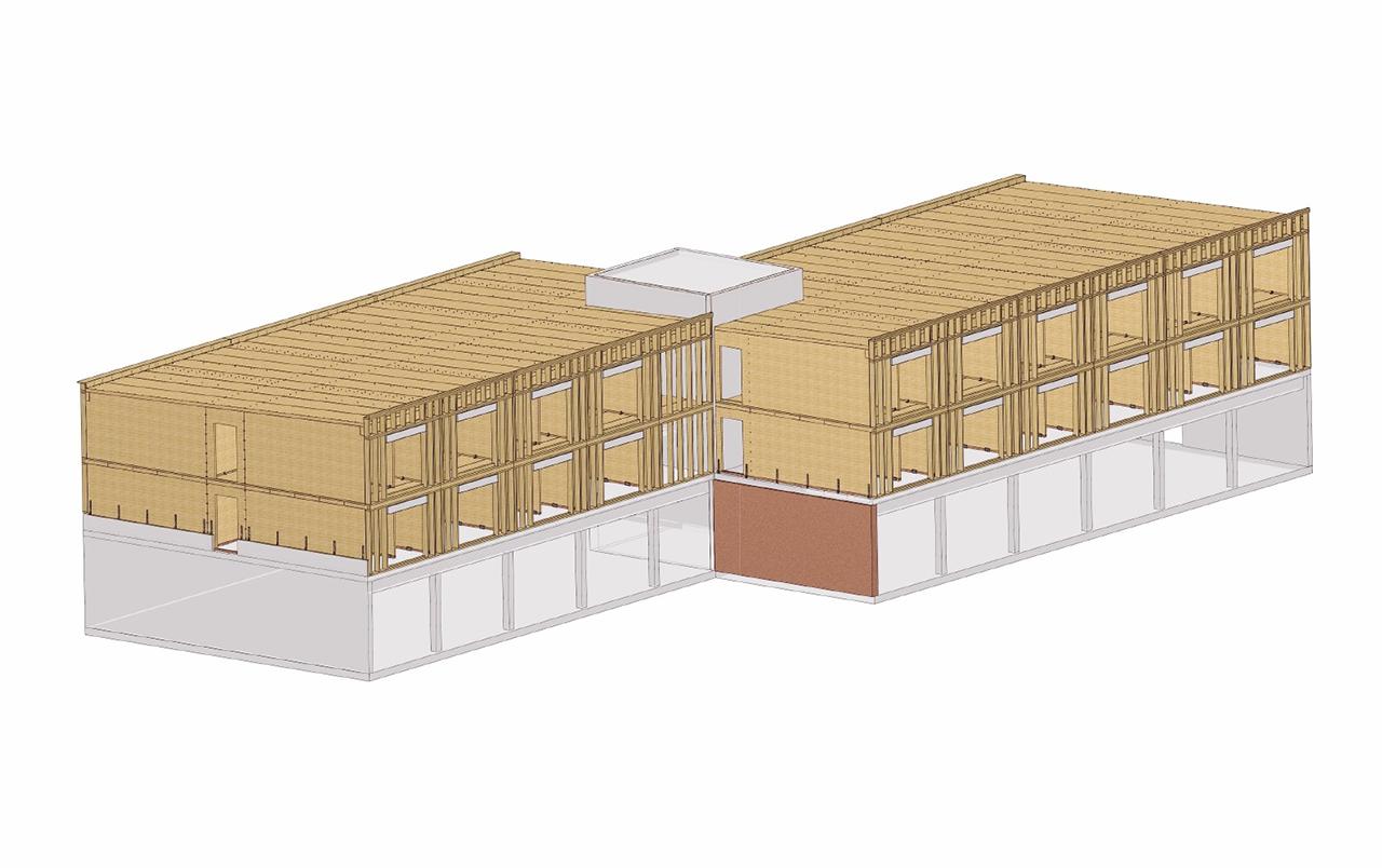 3D Zeichnung Zimmererei Freising