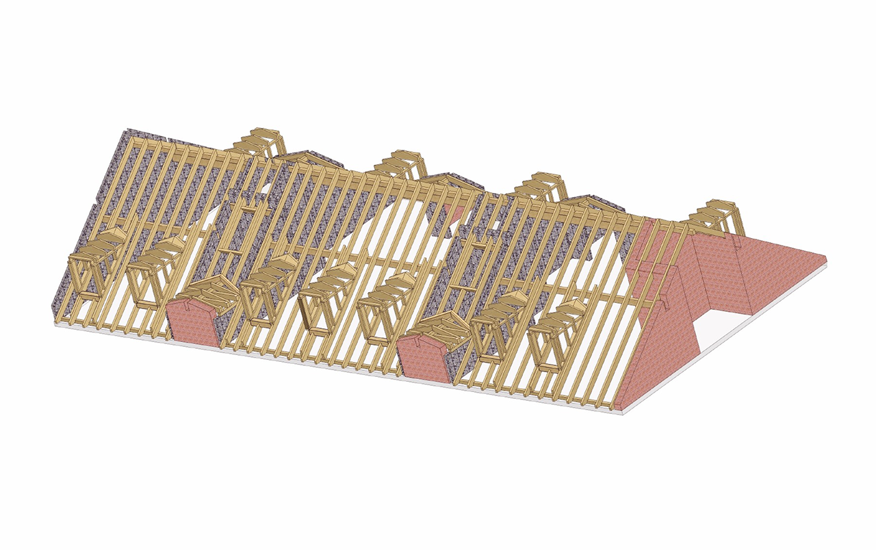 CAD Zimmererei Bayern Dachstuhl